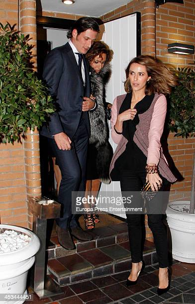 Luis Medina Naty Abascal and Laura Vecino celebrate the launching of the book '100% Naty' on November 26 2013 in Madrid Spain