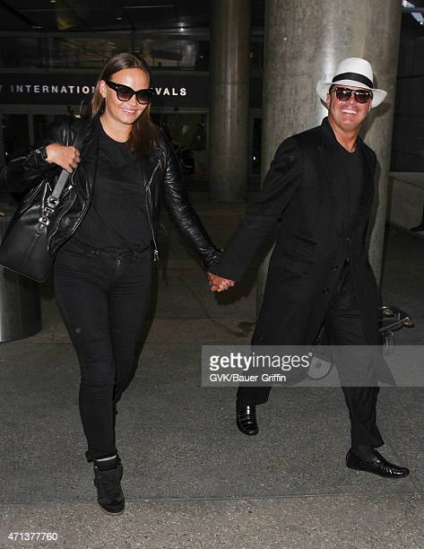 Luis Miguel and Kasia Sowinska seen at LAX on April 27 2015 in Los Angeles California