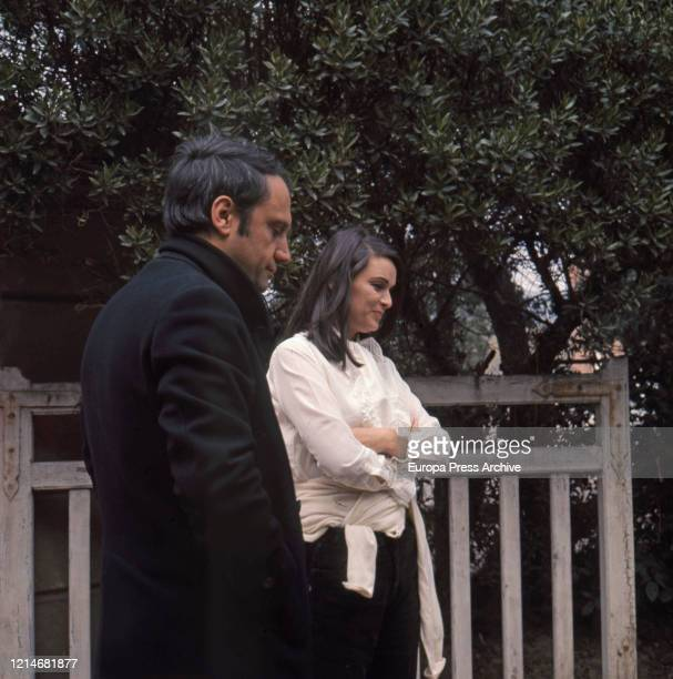 Luis Miguel Dominguin and Lucia Bose are seen on March 28 1964 in Madrid Spain