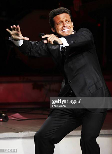 Luis Miguel during Luis Miguel in Concert at the Gibson Amphitheatre Sponsored by Ameriquest September 20 2005 at Gibson Amphitheatre in Universal...