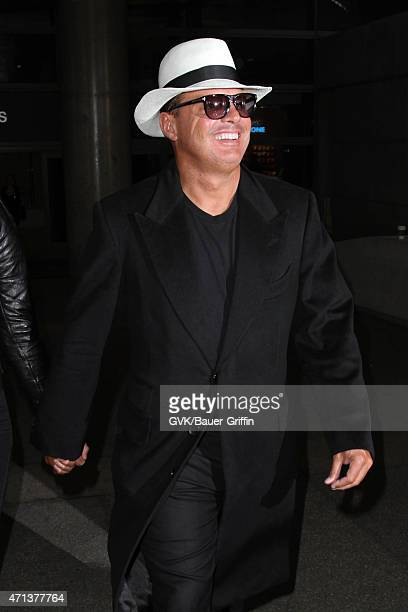 Luis Miguel is seen at LAX on April 27 2015 in Los Angeles California