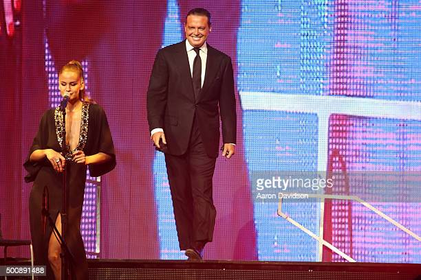 Luis Miguel performs at American Airlines Arena on December 10 2015 in Miami Florida