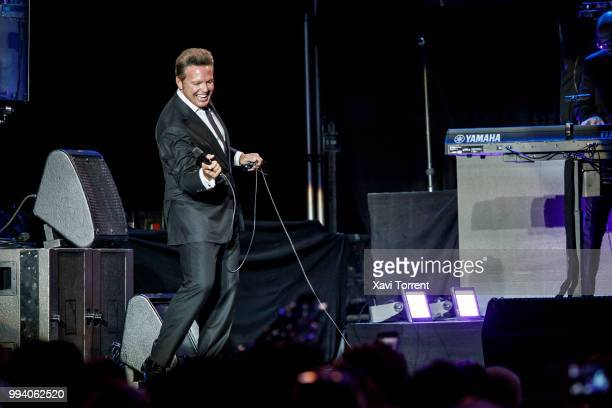 Luis Miguel performs in concert at Palau Sant Jordi on July 8 2018 in Barcelona Spain