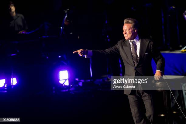 Luis Miguel performs on stage during the first concert of the Starlite music festival on July 11 2018 in Marbella Spain