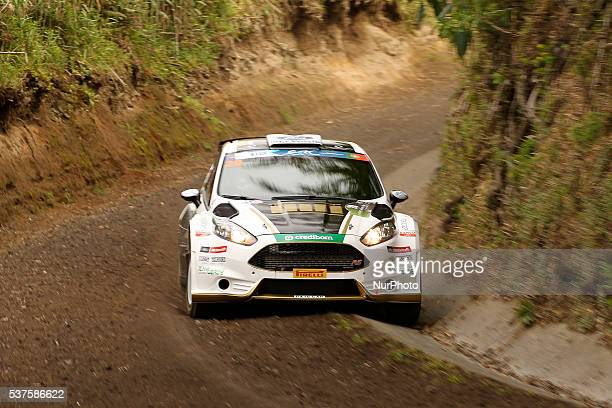 Luis Miguel Rego and Miguel Rego Luis in Ford Fiesta R5 during the shakedow of the FIA ERC Azores Airlines Rallye 2016 in Ponta Delgada Azores...