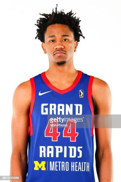 Luis Montero of the Grand Rapids Drive poses for a head shot during the NBA GLeague media day at the DeltaPlex Arena on October 26 2017 in Grand...