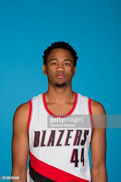 Luis Montero of the Portland Trail Blazers poses for a headshot during the 20162017 Portland Trail Blazers media day on September 26 2016 at the Rose...