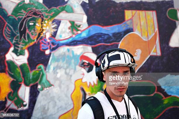 """Luis Moure, who was once addicted to K2 or """"Spice"""", a synthetic marijuana drug, pauses in East Harlem on August 5, 2015 in New York City. New York,..."""