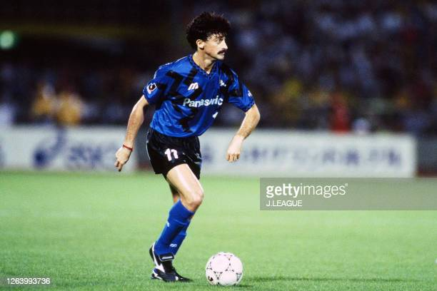 Luis Muller of Gamba Osaka in action during the J.League Suntory Series match between JEF United Ichihara and Gamba Osaka at the Nihondaira Stadium...