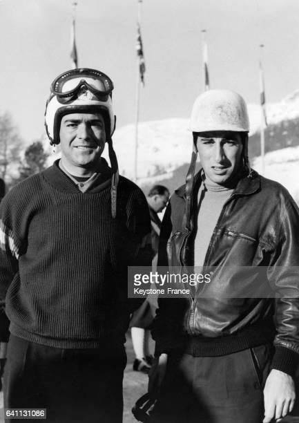 Luis Munoz et Alfonso de Portago aux championnats du monde de bobsleigh à SaintMoritz en Suisse le 3 février 1957