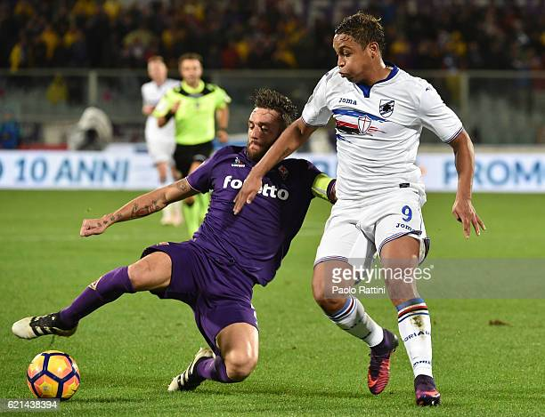 Luis Muriel and Gonzalo during the Serie A match between ACF Fiorentina and UC Sampdoria at Stadio Artemio Franchi on November 6 2016 in Florence...