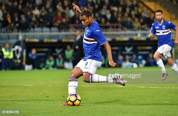 Luis Muriel in action during the Serie A match between UC Sampdoria and FC Internazionale at Stadio Luigi Ferraris on October 30 2016 in Genoa Italy