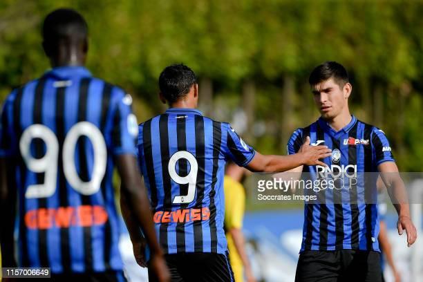 Luis Muriel of Atalanta Bergamo Matteo Pessina of Atalanta Bergamo during the Club Friendly match between Atalanta Bergamo v Ac Renate at the Stadio...
