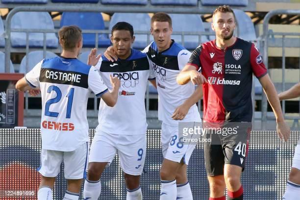 Luis Muriel of Atalanta celebrates his goal 01 during the Serie A match between Cagliari Calcio and Atalanta BC at Sardegna Arena on July 5 2020 in...