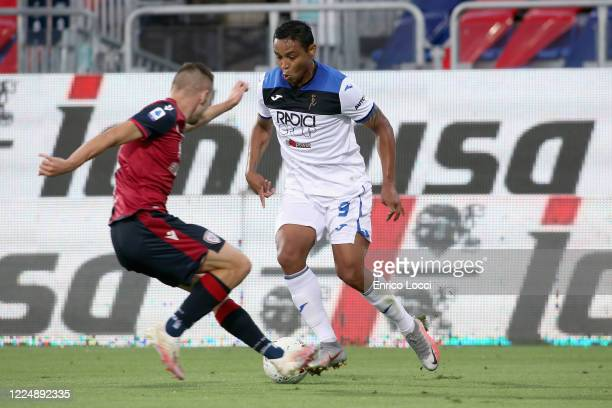 Luis Muriel of Atalanta in action during the Serie A match between Cagliari Calcio and Atalanta BC at Sardegna Arena on July 5 2020 in Cagliari Italy
