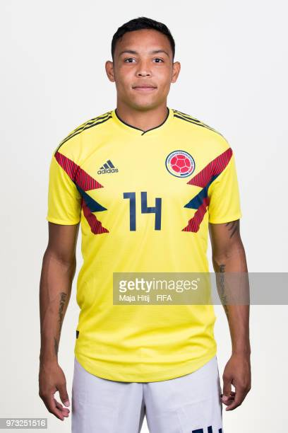 Luis Muriel of Colombia poses for a portrait during the official FIFA World Cup 2018 portrait session at Kazan Ski Resort on June 13 2018 in Kazan...