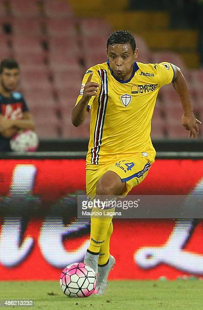 Luis Muriel of Sampdoria during the Serie A match between SSC Napoli and UC Sampdoria at Stadio San Paolo on August 30 2015 in Naples Italy