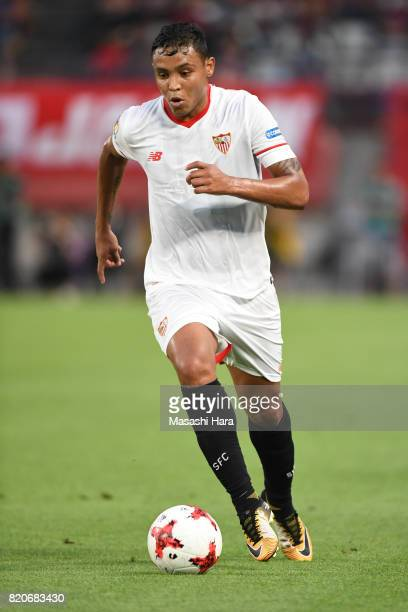 Luis Muriel of Sevilla FC in action during the preseason friendly match between Kashima Antlers and Sevilla FC at Kashima Soccer Stadium on July 22...