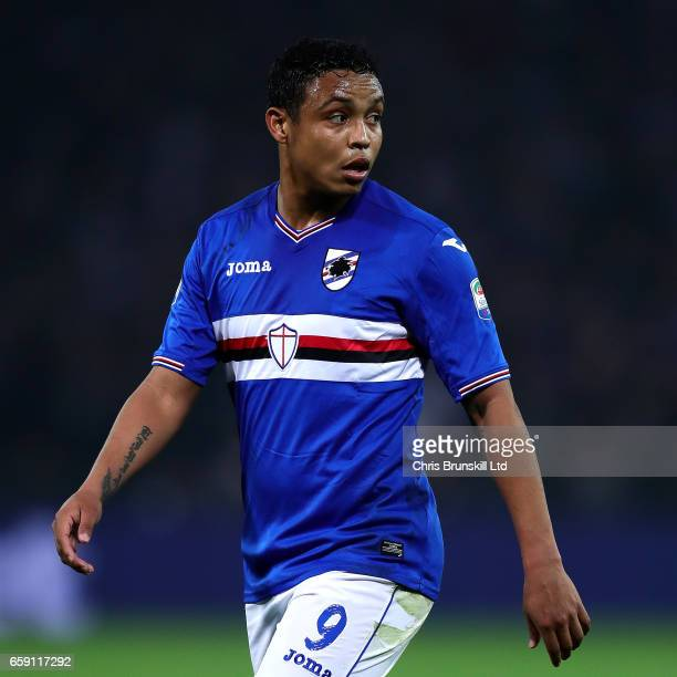 Luis Muriel of UC Sampdoria looks on during the Serie A match between Genoa CFC and UC Sampdoria at Stadio Luigi Ferraris on March 11 2017 in Genoa...