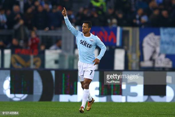 Luis Nani of Lazio during the Serie A match between SS Lazio and Udinese Calcio on January 24 2018 in Rome Italy