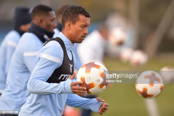 Luis Nani of SS Lazio during the SS Lazio training session on the eve of their UEFA Europa Match against Steaua Bucharest on February 21 2018 in Rome...
