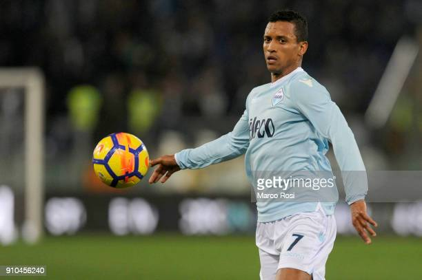 Luis Nani of SS Lazio in action during the Serie A match between SS Lazio and Udinese Calcio on January 24 2018 in Rome Italy