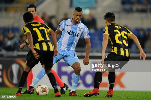 Luis Nani of SS Lazio in action during the UEFA Europa League group K match between SS Lazio and Vitesse at Olimpico Stadium on November 23 2017 in...
