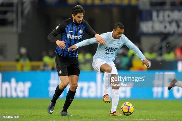 Luis Naniof SS Lazio compete for the ball with Andrea Ranocchia of FC Internazionale during the serie A match between FC Internazionale and SS Lazio...