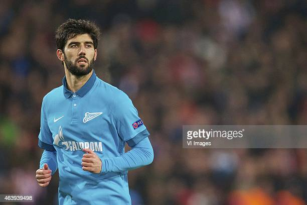 Luis Neto of FC Zenit during the round of 32 UEFA Europa League match between PSV Eindhoven and Zenit Saint Petersburg on February 19 2015 at the...