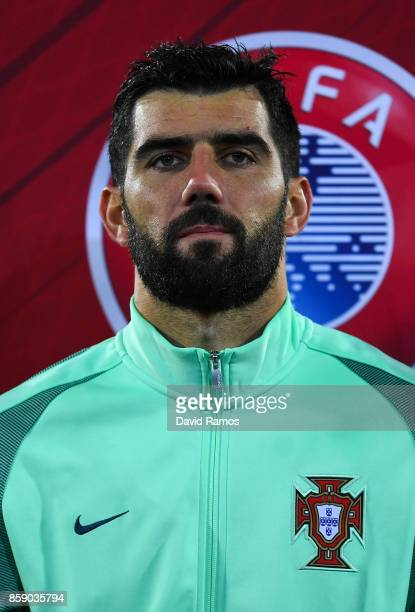 Luis Neto of Portugal looks on prior to the FIFA 2018 World Cup Qualifier between Andorra and Portugal at the Estadi Nacional on October 7 2017 in...