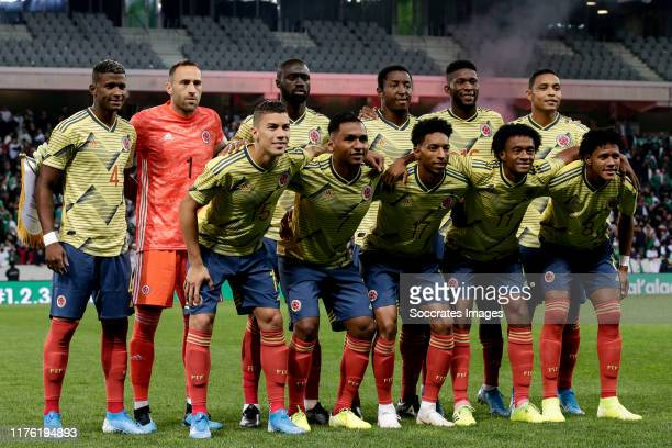 Luis Orejuela of Colombia David Ospina of Colombia Davinson Sanchez of Colombia Oscar Murillo of Colombia Jefferson Lerma of Colombia Luis Muriel of...