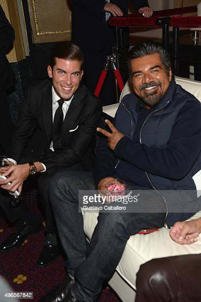 Luis Ortiz and George Lopez attends the 'The Latin Explosion A New America' Premiere Screening on November 10 2015 in New York City