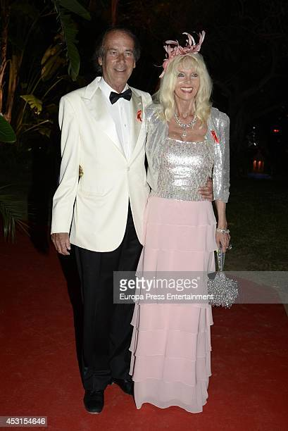 Luis Ortiz and Gunilla Von Bismarck attend 'Concordia Charity Party' on August 1 2014 in Marbella Spain