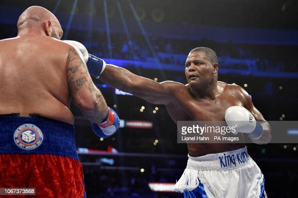 Luis Ortiz defeats Travis Kauffman during the Heavyweight Championship bout at the Staples Center in Los Angeles PRESS ASSOCIATION Photo Picture date...