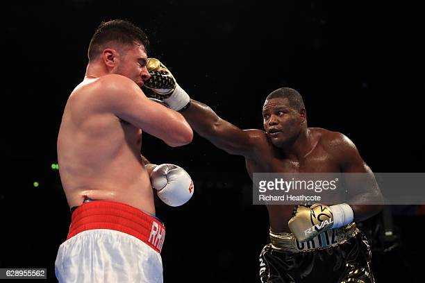 Luis Ortiz of Cuba in action against David Allen during a Heavyweight contest at Manchester Arena on December 10 2016 in Manchester England