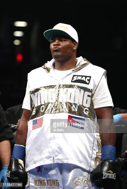 Luis Ortiz waits to fight Christian Hammer during their heavyweight fight at Barclays Center on March 02 2019 in New York City
