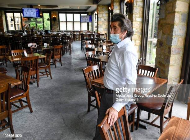 Luis Pereira, the President of Stokesay Castle, in the KNights Pub. At Stokesay Castle in Lower Alsace, PA Thursday afternoon July 16, 2020 where...