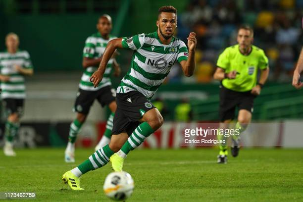 Luis Phellype of Sporting CP during the UEFA Europa League group D match between Sporting CP and LASK at Estadio Jose Alvalade on October 3, 2019 in...
