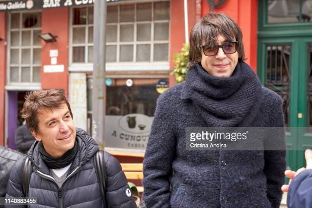 Luis Piedrahita and Javier Veiga attend EMHU press conference at Colon Theatre on April 4 2019 in A Coruna Spain