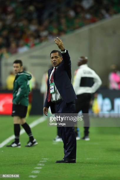 Luis Pompilio Paez coach of Mexico gives instructions to his players during the friendly match between Mexico and Ghana at NRG Stadium on June 28...