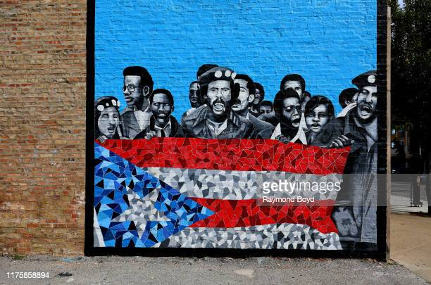 "Luis Raúl Muñoz' ""u2018Our Story Of Resilience""u2019 mural depicts people from the Young Lords Party...a Puerto Rican political movement founded in..."