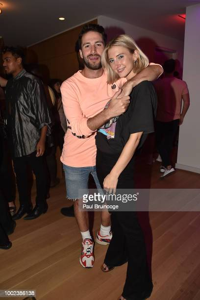 Luis Ramet and Sara Klausing attend Brian Feit's 40th Birthday Party at 550 West 29th Street on July 19 2018 in New York City