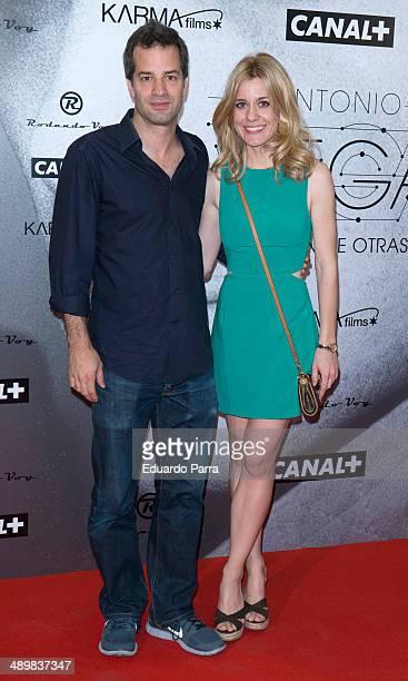 Luis Rayo and Alexandra Jimenez attend 'Antonio Vega Tu voz entre otras mil' photocall premiere at Proyecciones cinema on May 12 2014 in Madrid Spain