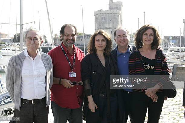 Luis Rego Denis Malleval Natacha Lindinger and Fabienne ServanShreiber attend the photocall of Villa Marguerite during the 10th annual Festival de la...