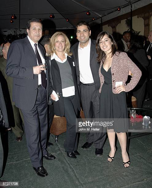 Luis Rivera President/CEO Pegasus Advertixing Linda Ortiz Youssef Telara and Lilia Reyes at the Launch Party of W Radio at the Music Box at the Henry...