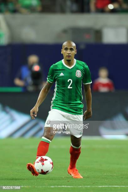 Luis Rodriguez of Mexico drives the ball during the friendly match between Mexico and Ghana at NRG Stadium on June 28 2017 in Houston Texas