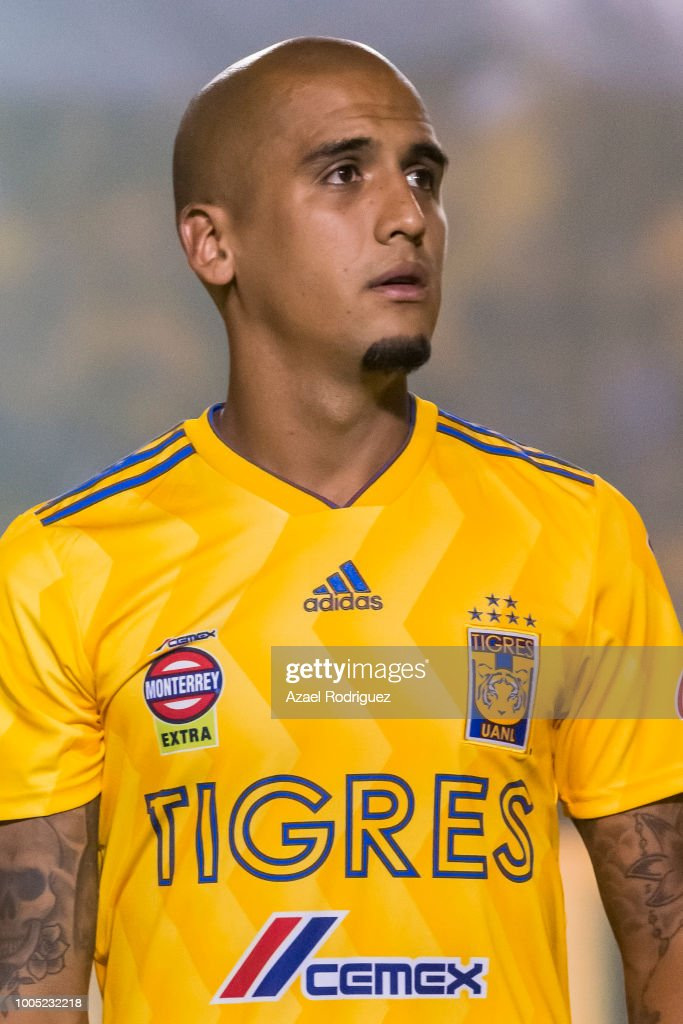 15faff5b669 Luis Rodriguez of Tigres poses prior the 1st round match between ...