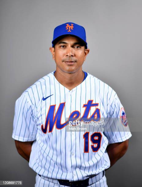 Luis Rojas of the New York Mets poses for a photo during Photo Day at Clover Park on February 20 2020 in Port St Lucie Florida