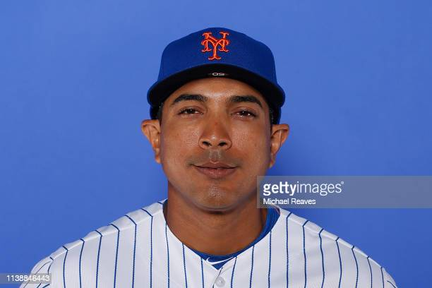 Luis Rojas of the New York Mets poses for a photo on Photo Day at First Data Field on February 21 2019 in Port St Lucie Florida