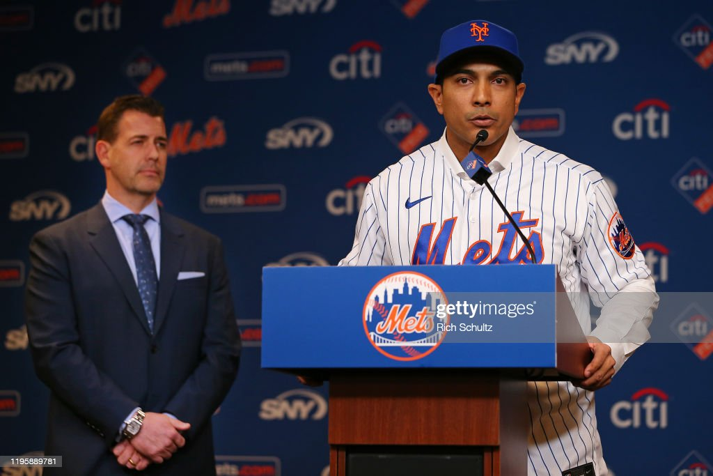 New York Mets Introduce Luis Rojas : News Photo